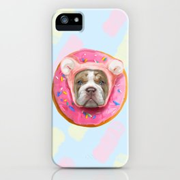 Sweet Bulldog Donut iPhone Case