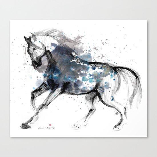 Horse (Storm) Canvas Print