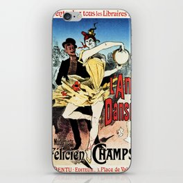The ballerina lover 1888 by Chéret iPhone Skin