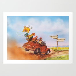 chicken run Art Print