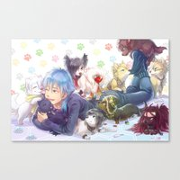 dramatical murder Canvas Prints featuring Dramatical Dogs by hasu