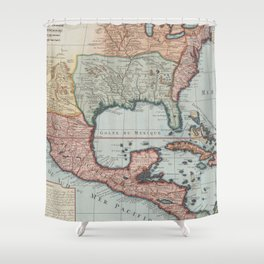 Vintage Map of The Gulf of Mexico (1732) Shower Curtain