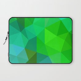 Emerald Low Poly Laptop Sleeve