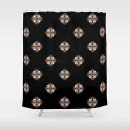 Simulated illuminated diamond pattern Shower Curtain