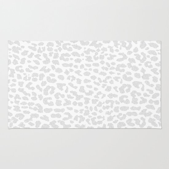 Pale Gray Leopard Rug By M Studio Society6