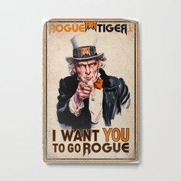 Go Rogue Vintage Poster Metal Print