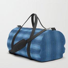 Denim Diamond Waves vertical patten Duffle Bag