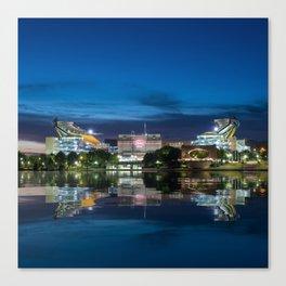 Heinz Field at night - Pittsburgh NFL stadium Canvas Print