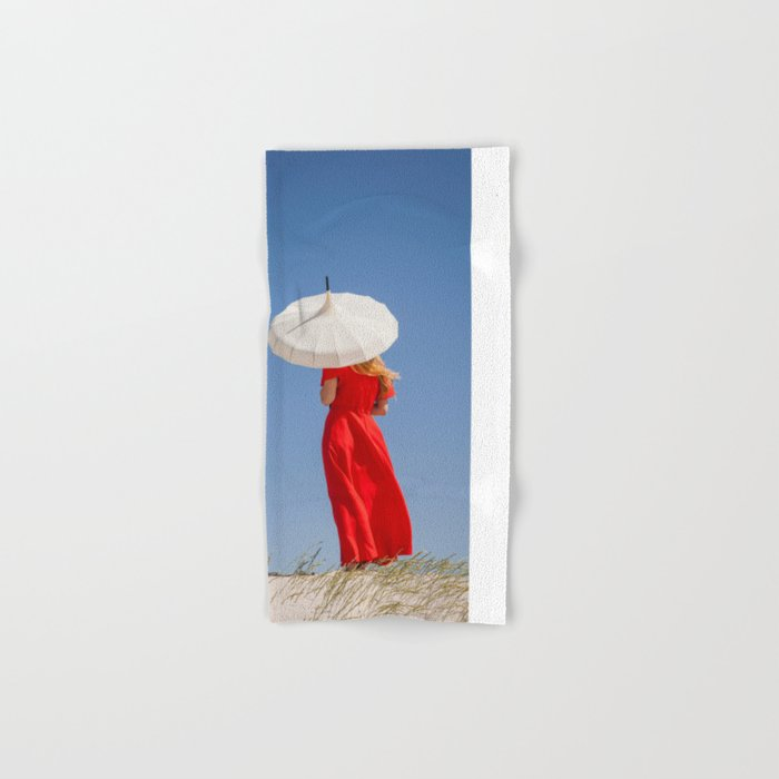 Lady in Red II Hand & Bath Towel