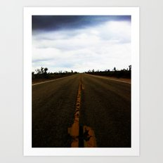 Deserted Road Art Print