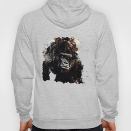gorilla monkey face expression wsfn Hoody