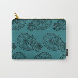 Nautilus in Turquoise Carry-All Pouch