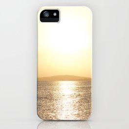Sunset over Western Harbour Leith Edinburgh iPhone Case