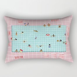 Pink Tiles Rectangular Pillow