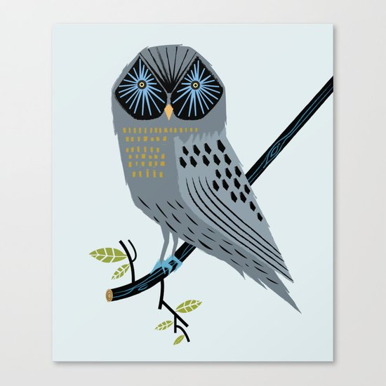 The Perching Owl Canvas Print