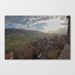 Sperlinga, Sicily Canvas Print