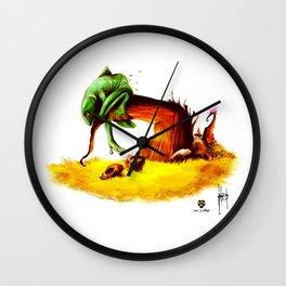 Lazy Frog Wall Clock