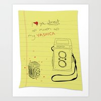 yashica love Art Print