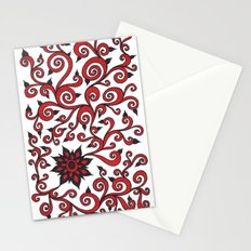 Red Swirl Stationery Cards