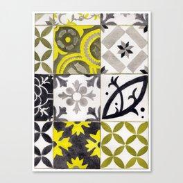 JD_tiled floor1–gouache Canvas Print
