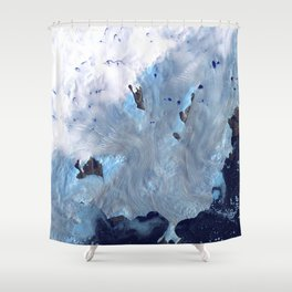 Glaciers on Greenland's Coast Shower Curtain