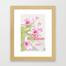 Muttertag Framed Art Print