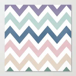 MUTED CHEVRON {COOL TONES} Canvas Print