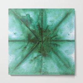 Tie dye Ultramarine green Metal Print
