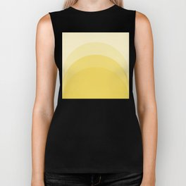 Four Shades of Yellow Curved Biker Tank