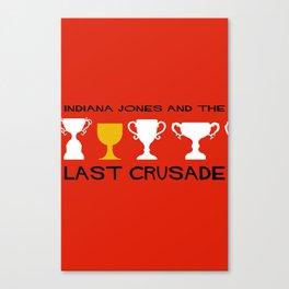 Indiana Jones and the Last Crusade Minimal Movie Poster Canvas Print