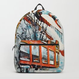 Brooklyn New York In Snow Storm Backpack