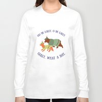 robin hood Long Sleeve T-shirts featuring Robin Hood and Little John by Ellie Bockert Augsburger