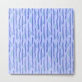 CALISTA VINTAGE, RETRO FLORAL: BLUE MONDAY Metal Print