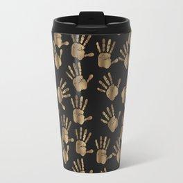 Abstract Golden hands Open Hands Open heart Travel Mug