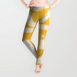 Abstract line art - Faces Leggings