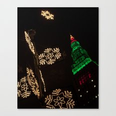 Terminal Tower Christmas Canvas Print