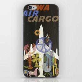 TWA AIR CARGO VINTAGE POSTER iPhone Skin