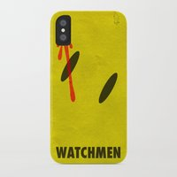 watchmen iPhone & iPod Cases featuring Watchmen - The Comedian by Fabio Castro