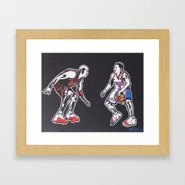 MJ vs. AI Framed Art Print