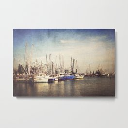 Gulf Coast Shrimp Boats Metal Print
