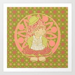 Cholita de fiesta Art Print