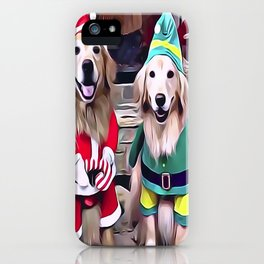 Golden Retrievers Santa's Helpers iPhone Case