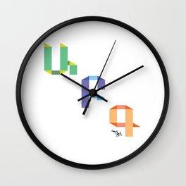 A B C Wall Clock