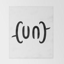Ambigram Cunt Throw Blanket
