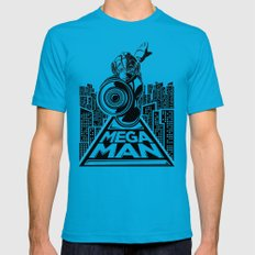 Megaman. In the year 20xx Teal Mens Fitted Tee MEDIUM