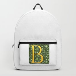 Beautiful letter 'B' vintage monogram letter Backpack