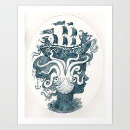blue empress Art Print