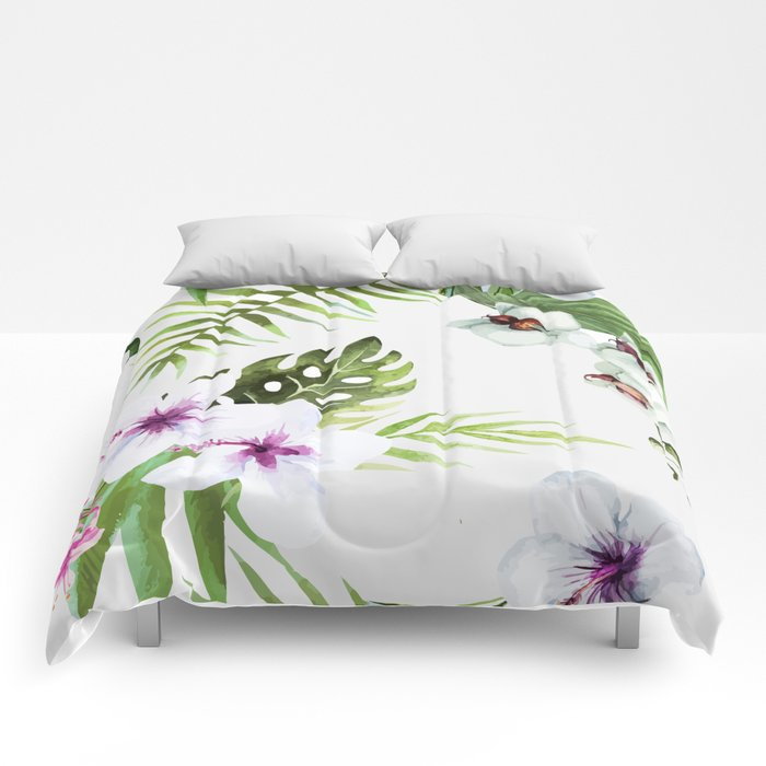 Tropical Serenity #society6 Comforters