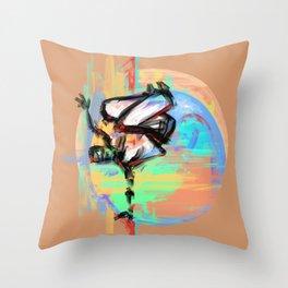 Capoeira 543 Throw Pillow