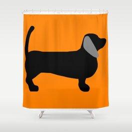 Halloweiner Dog Shower Curtain